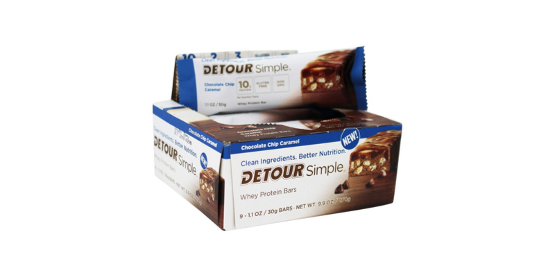 a box of Detour protein bars