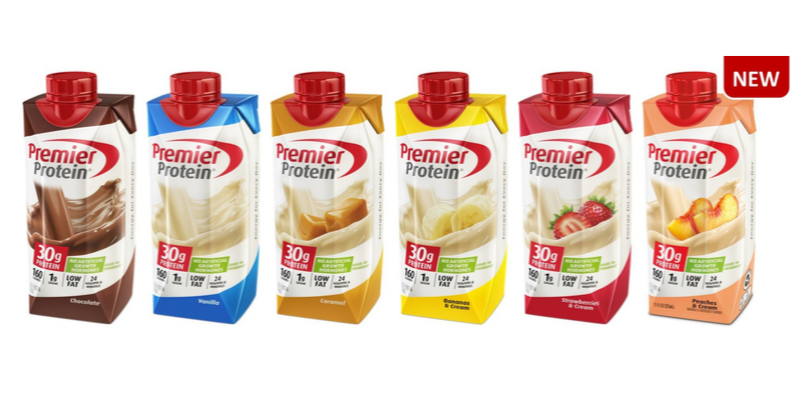 Different flavors of Premier Protein shake