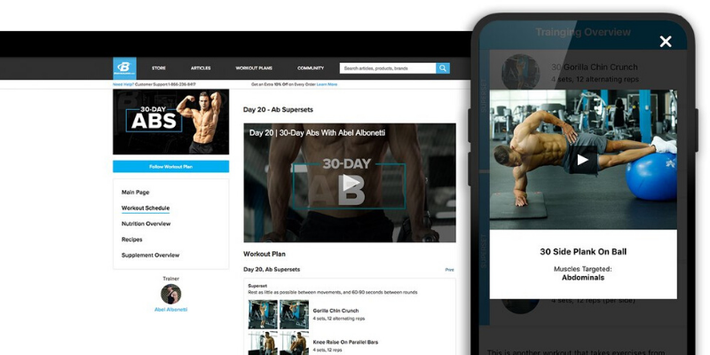 all access app view of exercises