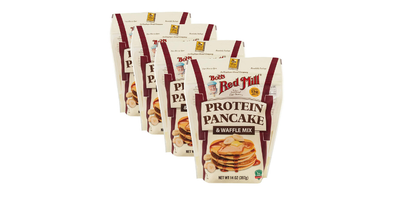 Packages of Bob's Red Mill Protein Pancake and Waffle Mix
