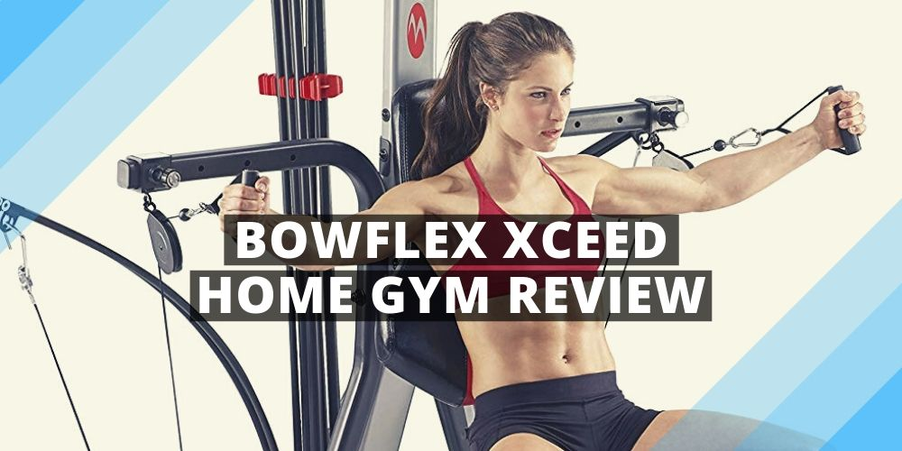 a woman training with Bowflex Xceed Home Gym