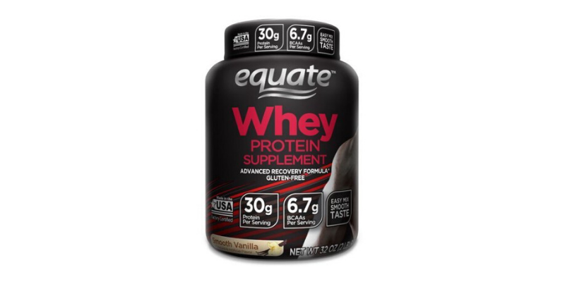 equate whey protein jar