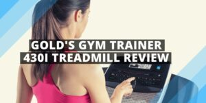 a woman on a gold gym 430i treadmill