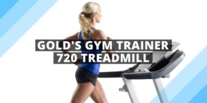 a woman running on gold's gym trainer 720