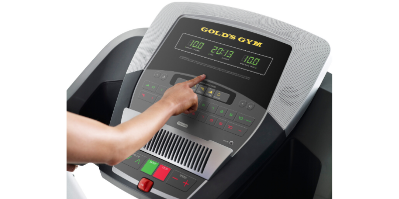 gold's gym trainer 720 control panel