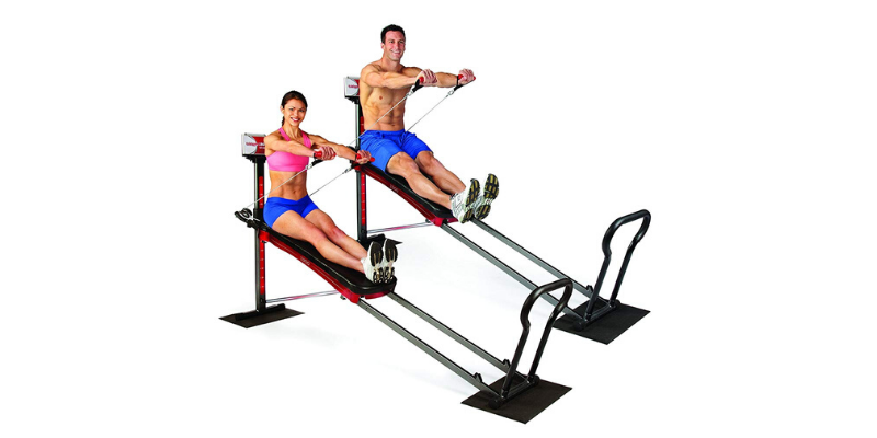 Man and woman on Total Gym 1900