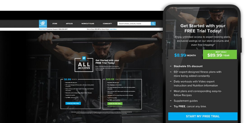 all access app subscription view