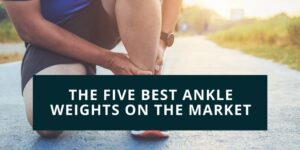 Man putting ankle weights