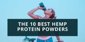 woman drinking protein shake