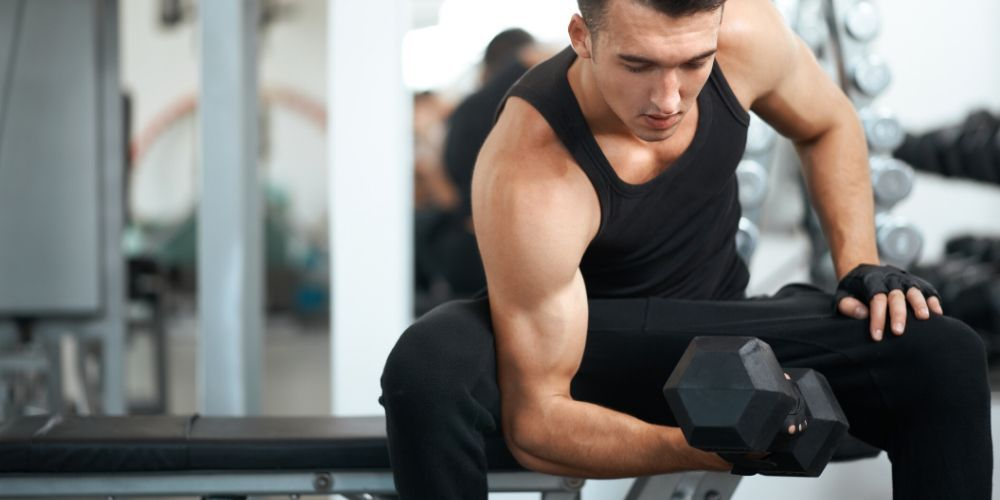 bicep workout with dumbbells