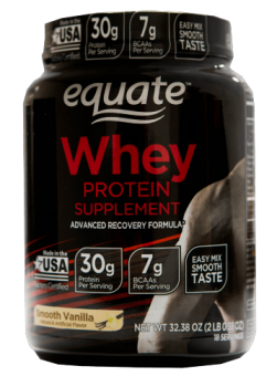 equate whey protein canister
